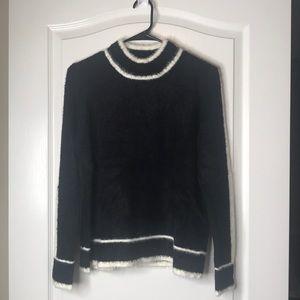 Marc New York Andrew Black Ivory Sweater Medium